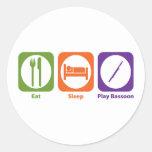 Bassoon de Eat Sleep Play Etiquetas Redondas