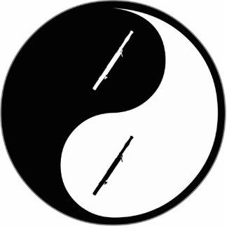Bassoon de Yin Yang Adorno Fotoescultura