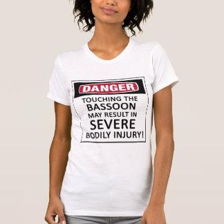 Bassoon del peligro camiseta