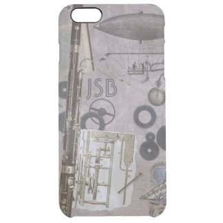 Bassoon Fantasy Steampunk Carnival Custom Initials Clear iPhone 6 Plus Case