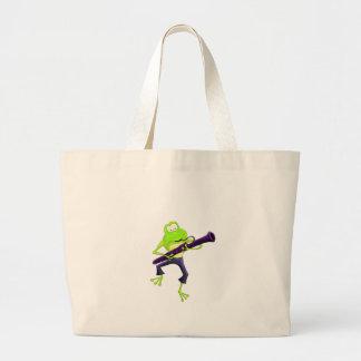 Bassoon Frog Jumbo Tote Bag