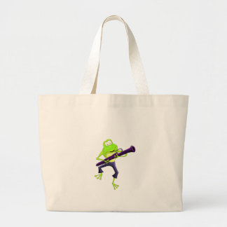 Bassoon Frog Large Tote Bag