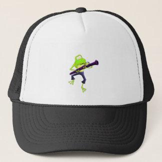 Bassoon Frog Trucker Hat