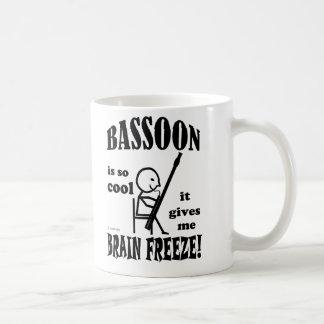 Bassoon helada del cerebro taza
