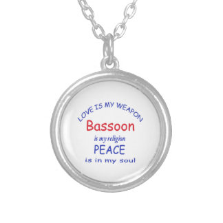 Bassoon is my religion round pendant necklace