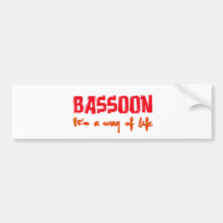 Bassoon It's a way of life Bumper Stickers