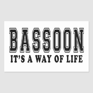 Bassoon It's way of life Rectangle Stickers