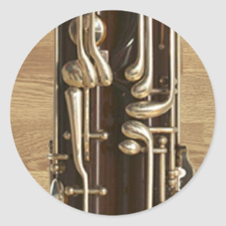 Bassoon Keys Classic Round Sticker