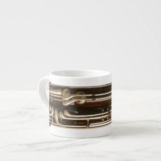 Bassoon Keys Espresso 6 Oz Ceramic Espresso Cup