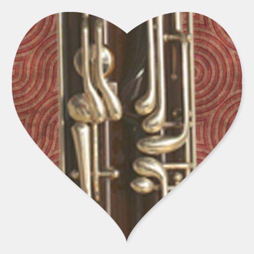 Bassoon Keys Heart Sticker