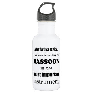 Bassoon  Most Important Instrument Water Bottle
