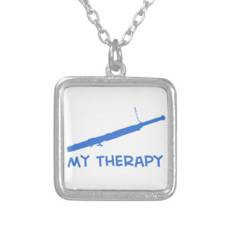 Bassoon My therapy Square Pendant Necklace
