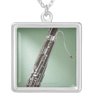 Bassoon Square Pendant Necklace
