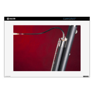 "Bassoon on Red Background 15"" Laptop Decals"