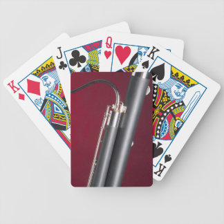 Bassoon on Red Background Bicycle Poker Cards