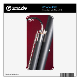 Bassoon on Red Background Decal For The iPhone 4S