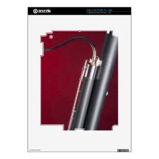 Bassoon on Red Background Decals For iPad 2