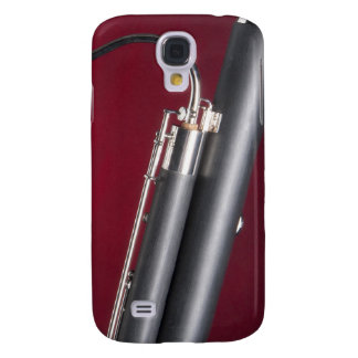 Bassoon on Red Background Galaxy S4 Covers