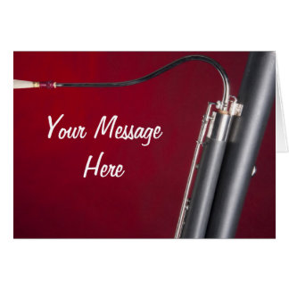 Bassoon on Red Background Greeting Card