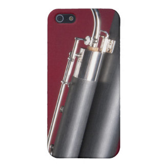 Bassoon on Red Background iPhone 5 Covers