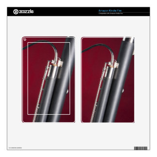 Bassoon on Red Background Skins For Kindle Fire