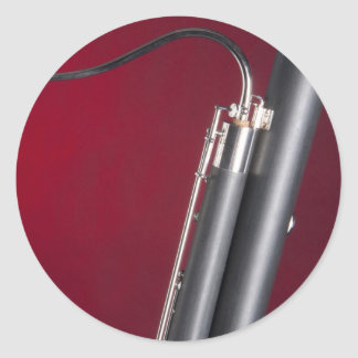Bassoon on Red Background Sticker