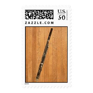 Bassoon on Wood Panels Postage