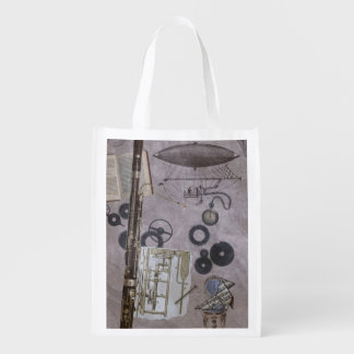 Bassoon or Later Steampunk Carnival Grocery Bag