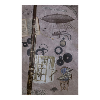 Bassoon or Later Steampunk Carnival Poster