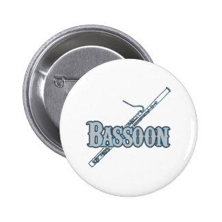 Bassoon Pin Redondo De 2 Pulgadas