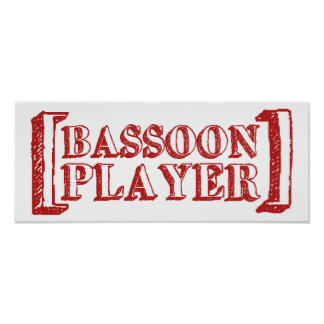 Bassoon  Player Poster