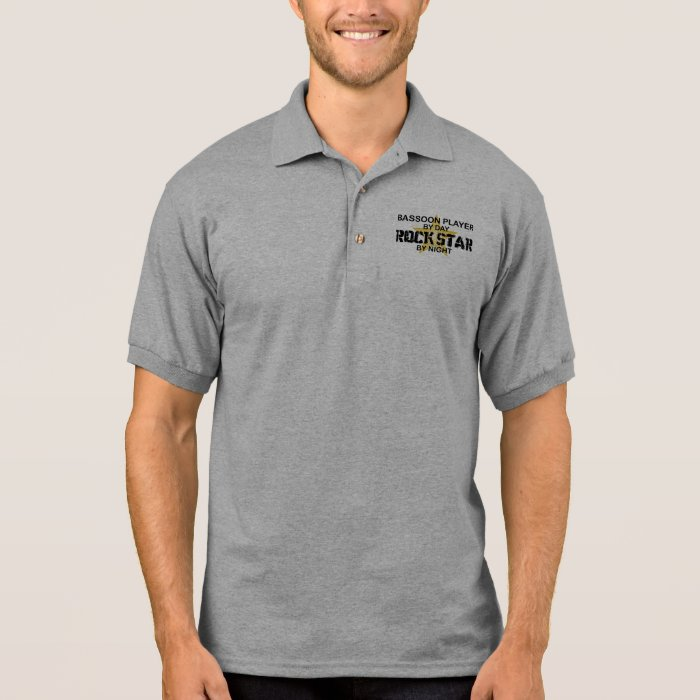 Bassoon Player Rock Star by Night Polo Shirt