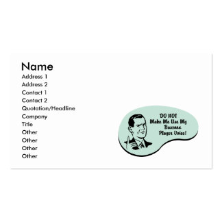 Bassoon Player Voice Business Card