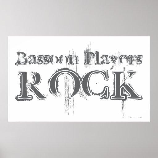 Bassoon Players Rock Print