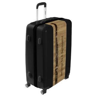 Bassoon Realistic Image Wood Effect Custom Text Luggage