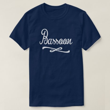 Bassoon Retro Word Swirl Music T-Shirt