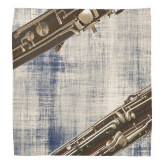 Bassoon Sections on Faded Denim Look Bandana