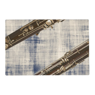 Bassoon Sections on Faded Denim Look Placemat