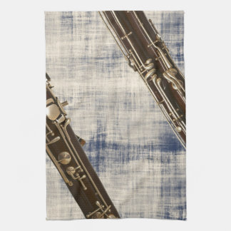 Bassoon Sections on Faded Denim Look Towels