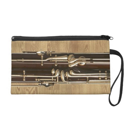 Bassoon Sections on Wood Effect Wristlet Purses