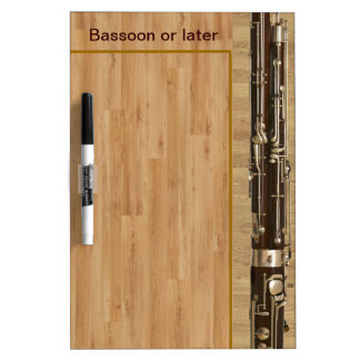 Bassoon Sections on Wood Effect Dry-Erase Board