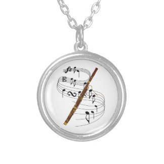 Bassoon Silver Plated Necklace