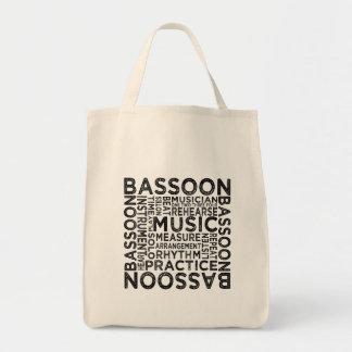 Bassoon Typography Tote Bag