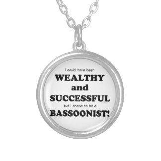 Bassoon Wealthy & Successful Round Pendant Necklace