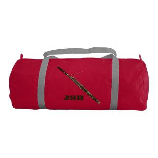Bassoon with Custom Monogram Gym Bag