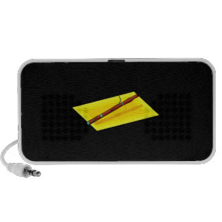 Bassoon with yellow background image graphic notebook speaker