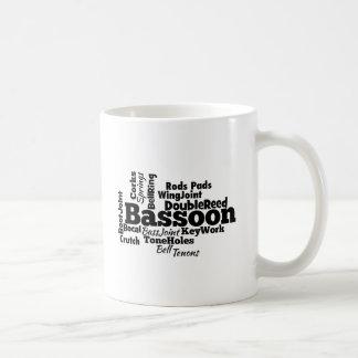 Bassoon Word Cloud Coffee Mug