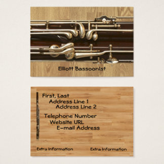Bassoonist Contact Information Business Card