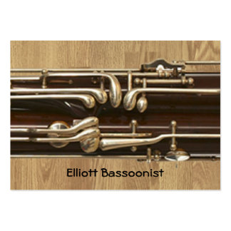 Bassoonist Contact Information Large Business Card