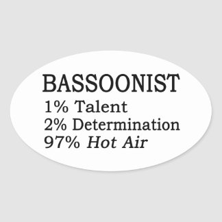 Bassoonist Hot Air Oval Sticker